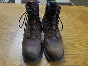Red Wing 926 DynaForce Boots Mens Sz 9 D Brown Leather 6