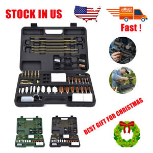 Universal Gun Cleaning Kit Solid Brass Jags & Slot Rifle Pistol Shotgun Cleaner
