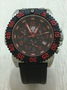 LUMINOX NAVY SEALs STEEL COLORMARK CHRONOGRAPH Analog Rubber 3180 #A265 GOOD Wri