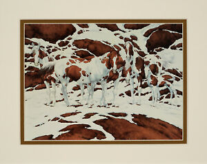Bev Doolittle Pintos Matted Art Print to fit a standard ready made frame $17.99