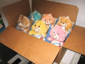 SET of 6 VINTAGE Collectible 1985 CARE BEARS in ORIGINAL KENNER SHIPPING BOX