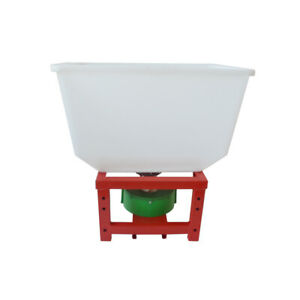 12-Volt ATV 265lbs Capacity Dry Material Broadcast Spreader Fertilizer Salt Seed