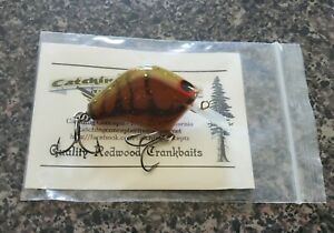 Catching Concepts LH .5 Fishing Lure Crankbait - Hard To Find - Natural Redwood