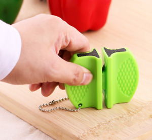 Mini Knife Sharpener Pocket Camping Tapered Knife Sharpening Stone Kitchen Tool