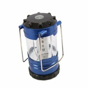 12 LED Portable Camping Camp Lantern Light Lamp with Compass Blue $9.86