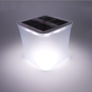 Inflatable Solar Powered LED Light Portable Folding Outdoor Camp Lantern Lamp $13.79