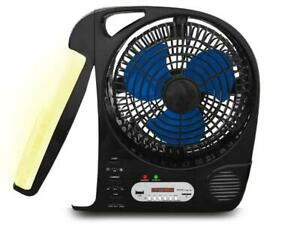 Technical Pro Rechargeable Camping Fan with Radio Speaker and LED Work Lamp