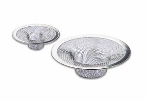 Stainless Steel Mesh 2 Piece Set Clog Preventing Sink Strainers - 2