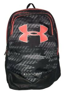 Under Armour Backpack Storm Scrimmage Black Radio Red Book Bag Boys Youth