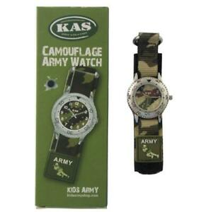 Kids Army Military Camo Camouflage Children's Wrist Watch For Little soldiers