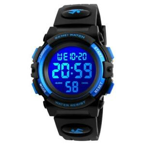 7-Color Kids Boys Digital Watches Waterproof Outdoor Sports Analogue Watch with