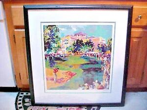 LeRoy Neiman Hand signed Lithograph Golf Framed Matted Westchester Classic
