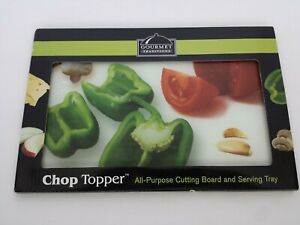 NEW GOURMET TRADITIONS CHOP TOPPER ALL PURPOSE CUTTING BOARD SERVING TRAY 8