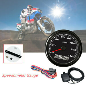 85MM GPS 140MPH Speedometer Gauge Car Motorcycle Backlight3.9M Cable Universal $66.74