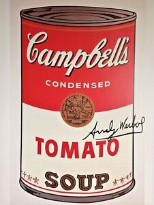 ANDY WARHOL HAND SIGNED SIGNATURE * CAMPBELL#x27;S SOUP CAN I * PRINT $999.99