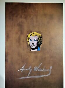 ANDY WARHOL HAND SIGNED SIGNATURE * GOLD MARILYN MONROE *  PRINT