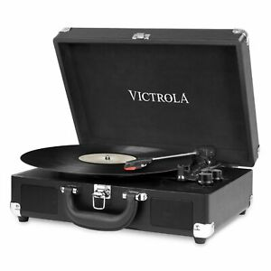 Vintage Turntable DJ Record Player with Speakers Black Home Entertainment Music $71.71