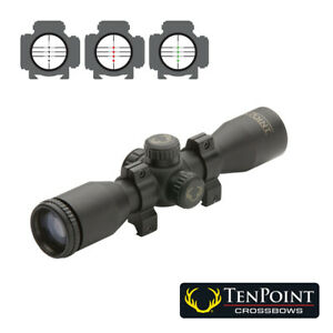 NEW TenPoint ProView 3 Crossbow Scope with Rings - 3X Multi-Plex Reticle.