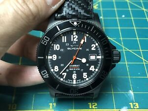 Glycine Combat Sub GL0244 Black PVD 42mm Diameter case