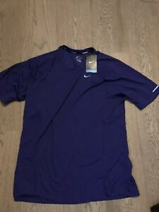 Nike Running Dri Fit Shirt Mens Purple XL New