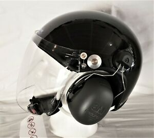Helmet for paramotor PPG PPC with optional SENA Bluetooth communication.