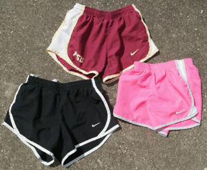 Lot of 3 Nike Tempo Shorts Girls Size Small 7 8 Dri Fit Lined Running Shorts
