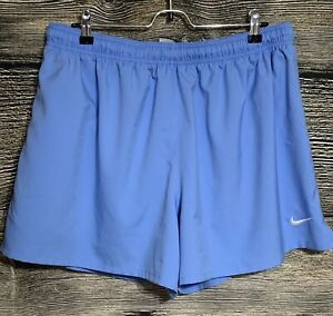 Nike Dri-Fit Mens Baby Blue With White Swoosh Running Shorts Size 2XL -A2