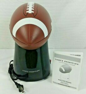 Hot Air Football Popcorn Popper Tail Gate Party Game Time Man Cave Snack Maker