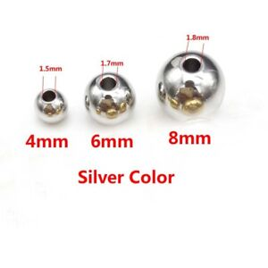Wholesale Stainless Steel Silver Round Spacer Beads Jewelry Finding Loose Beads $3.99