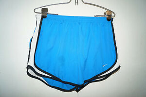 NIKE Women's Dry-fit Tempo Blue Athletic Running Shorts Size Large