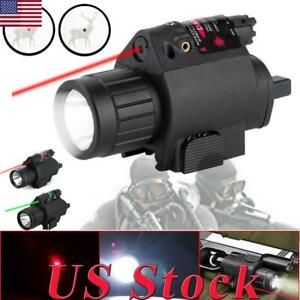LED Tactical Flashlight GREENRED Laser Sight Combo Picatinny Mount Rail Outdoor