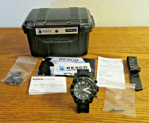 Resco Manus Chronograph Black Dial PVD Navy SEAL Dive Watch Military time piece