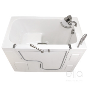 Wheelchair accessible Walk In bathtubs with easy entry and contoured seat design