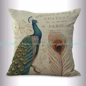 peacock retro cushion cover throw cushions $14.99