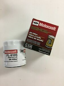 Motorcraft FL-910S High Efficiency Silicone Valve Engine Oil Filter LOT OF TWO