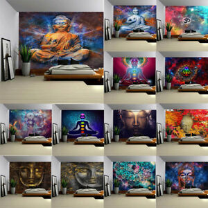Chakra Yoga Meditation Wall Decor Hanging Holy Buddha Zen Decoration Tapestry