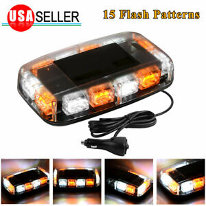 36 LED Strobe Light Roof Top Emergency Warning Flash Amber White Marker Light