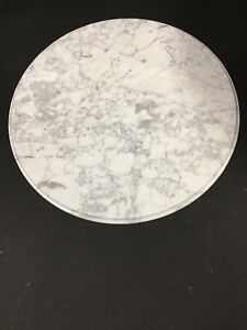 """15 """"WHITE  Venatino MARBLE TABLE TOP REPLACEMENT (3/8 Thick ) MADE iN ITALY 🇮🇹"""