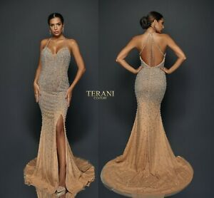 TERANI COUTURE 1921GL0624 authentic dress. BESTSELLER. MANY SIZES ! Lowest price