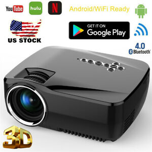 GP70UP Android Wifi Projector 5000Lumens Analog TV LED Projector for Home WF