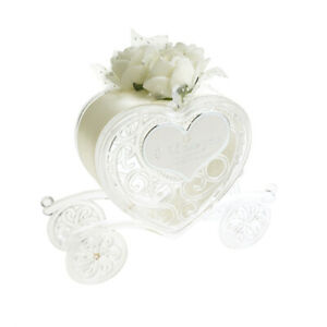 Wedding Heart Shaped Carriage Party Favor, 4-Inch, 12-Count