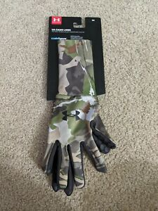 Under Armour Men's UA Coldgear Camo Liner Hunting Gloves 1203060 Size Small New