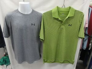 Under Armour Men's Short Sleeve Polo Shirt M + Gray T Shirt  M Lot of 2