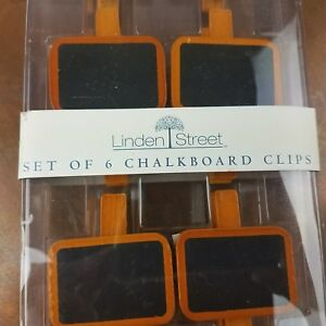 Set of 6 Wooden Clothespin Chalkboard Food Labels Clips Mini Message Name Plate