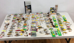 Lot Of 157 Fishing Lures Fred ArbogasRapala Dardevle Mepps Wally Heddon Ect Lot