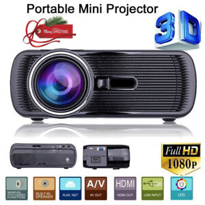 5000 Lumens FHD 2000:1 3D TV Smart LED LCD Home Projector Theater VGA SD HDMI