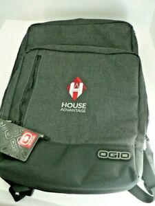 OGIO Padded Backpack NWT - 17x11x4 Hiking Laptop Grey Black