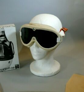 Vintage Off-White Head Ski Goggles With Extra Lenses Snowboard Racing UNUSED NOS