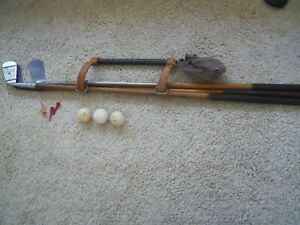 VINTAGE -ANTIQUE-GOLF CARRIER-WWOOD SHAFT CLUBS -VERY RARE REDUCED