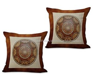 Set of 2 throw pillow medallion mandala yoga meditation cushion cover
